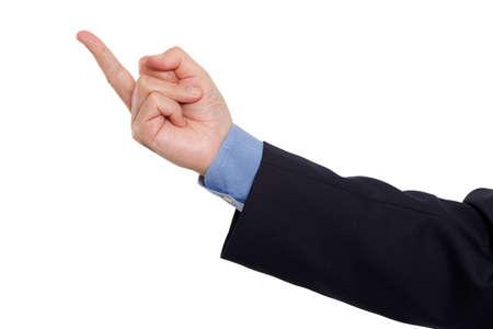 middlefinger: Flipping the finger Stock Photo