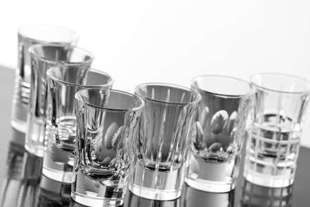 shot: Group of empty shot glasses