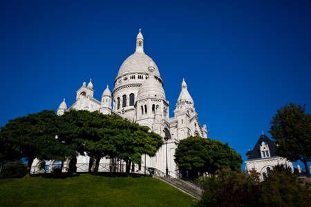 sacre: View on Basilique of Sacre Coeur, Montmartre, Paris, France