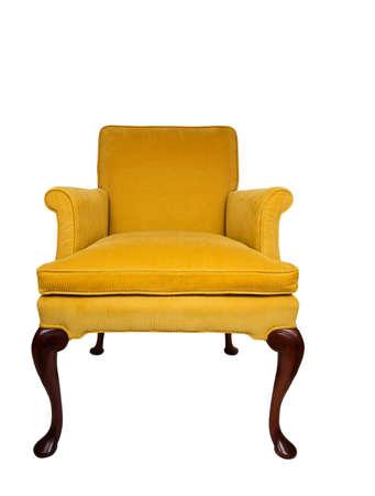 elbowchair: Beautiful yellow vintage chair