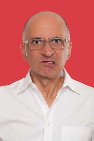 uomo rosso: Angry uomo faccia Archivio Fotografico