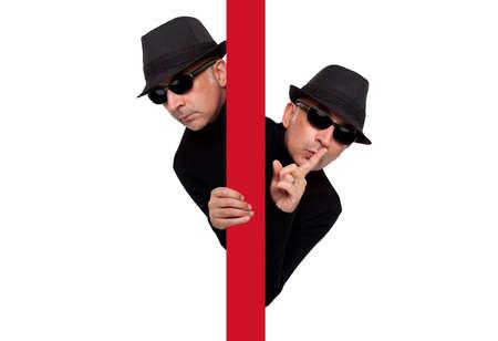 criminal: Man criminal expressive spy