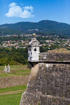 Watch tower in ancient town of Valenca, Portugal