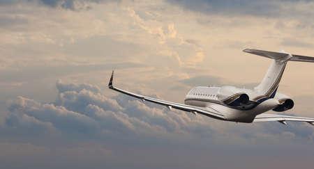 私用ジェット機飛行で 報道画像