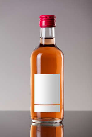 zinfandel: Bottle of rose wine Stock Photo