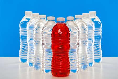 ペットボトルのグループ