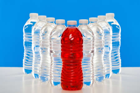 Group of plastic bottles Stock Photo