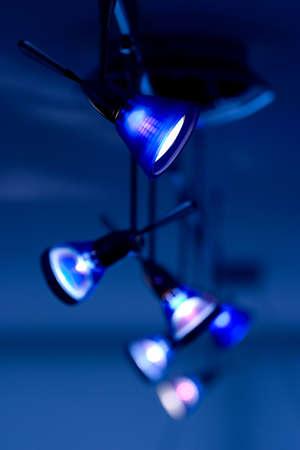 light fixture: Decorative blue pendant light fixture