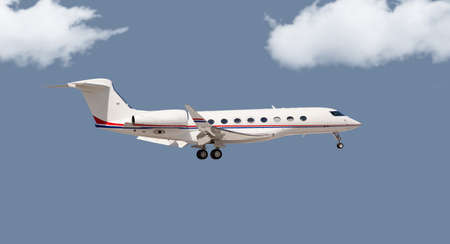 Private jet in the air