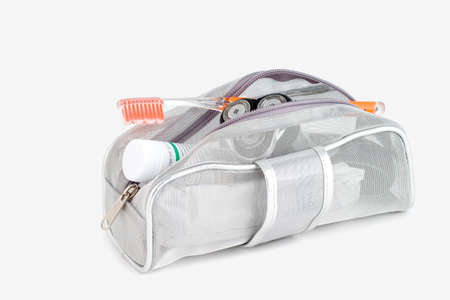 Isolated toiletry bag
