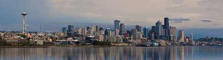 Sunset view of Seattle skyline, WA, USA Editoriali