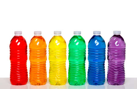 soda bottle: Colorful group of plastic bottles