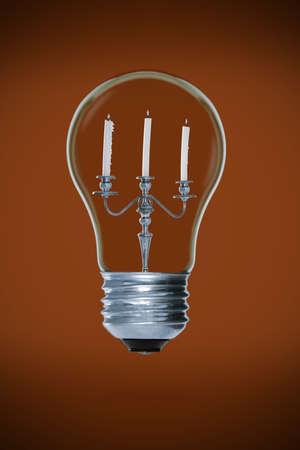 candelabra: Candelabra inside light bulb