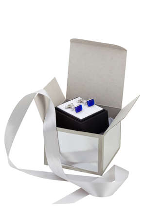 Beautiful cuff links in a gift box