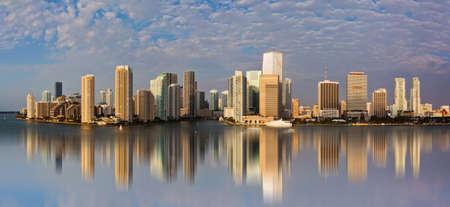 マイアミのダウンタウンのパノラマ ビュー