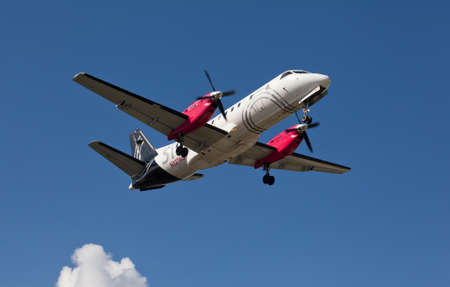 FORT LAUDERDALE, USA - May 24, 2015: A Silver Airways Saab 340B plus aircraft. Silver Airways is a U.S. Airline operating around 150 daily scheduled flights.