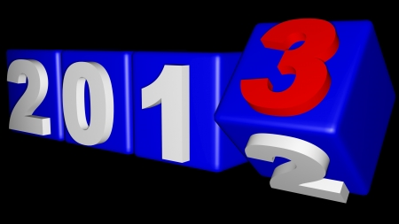 2012 to 2013 New year s coming Stock Photo