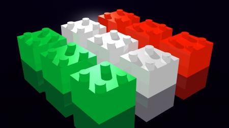 Italian flag made Stock Photo