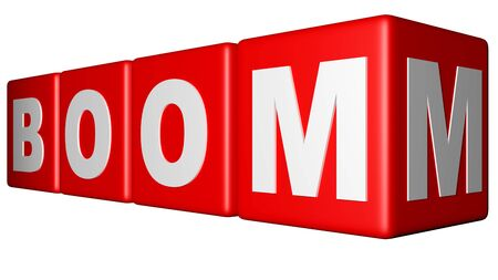Boom red cubes Stock Photo - 18451630
