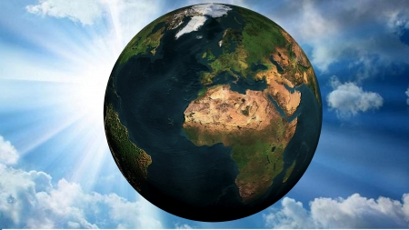 Planet Earth in the sky