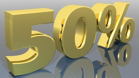 Golden 50 Stock Photo - 18451832