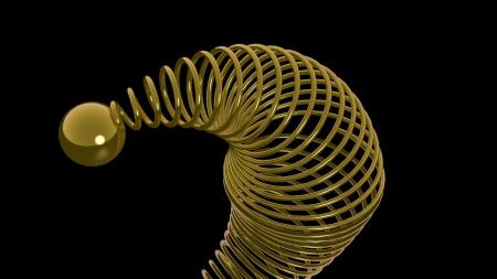 elongacion: Primavera oro con esfera dorada