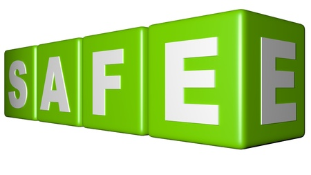 Safe green cubes