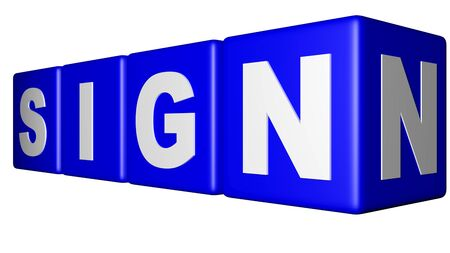 Sign blue cubes Stock Photo - 18451556