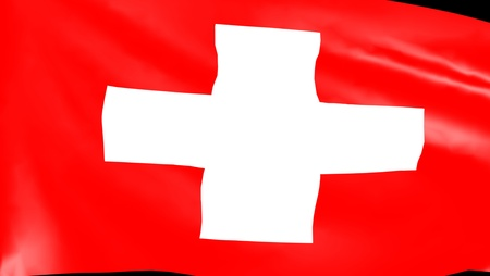 lingua: Bandiera svizzera - Swiss flag Stock Photo