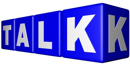 Talk blue cubes Stock Photo - 18451546