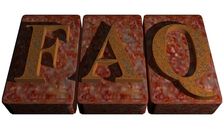 asked: FAQ - Fequently Asked Questions - Help Stock Photo