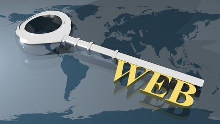 WEB key Stock Photo