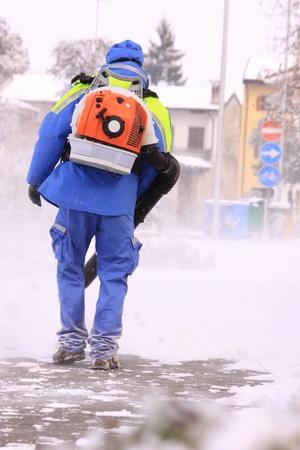 viability: Snow and restore viability Stock Photo