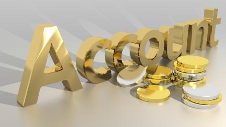 contabilidad: Cuenta con monedas