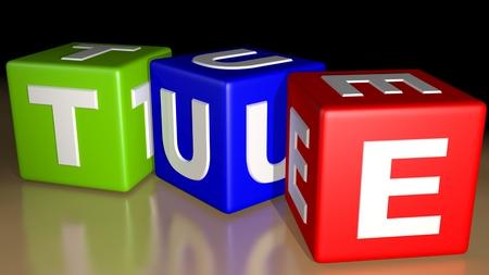 Week calendar colored cubes - Tuesday