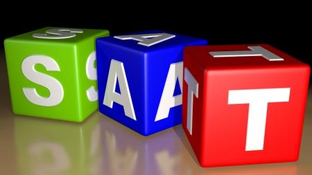 saturday: Week calendar colored cubes - Saturday