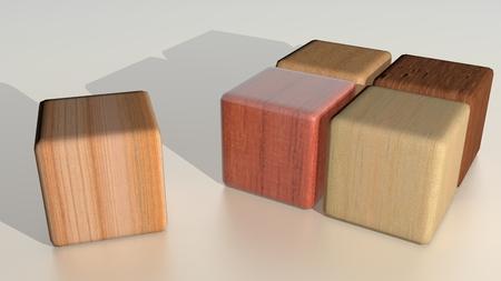 essences: Wooden cubes - Essences - Logo