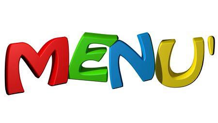 Colorful menu Stock Photo