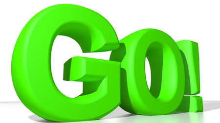 GO  green Stock Photo - 24742252