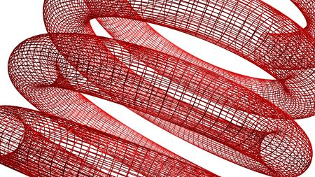 elasticidad: Primavera wireframed Red