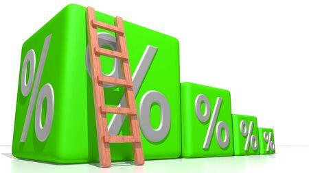 Pourcentage croissant Banque d'images - 24822574