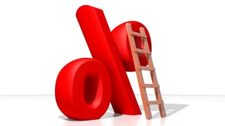 Ranking the percentage Stock Photo