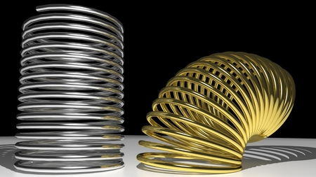 Metallic springs Stock Photo