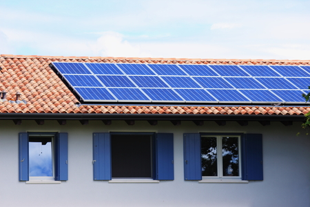 residencial: Photovoltaic panel - solar energy Stock Photo