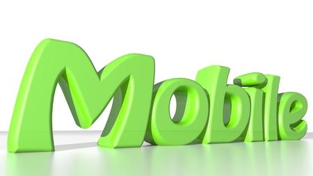 contractual: Mobile green Stock Photo