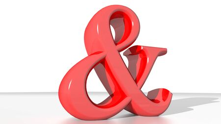 algebraic: Red commercial and symbol