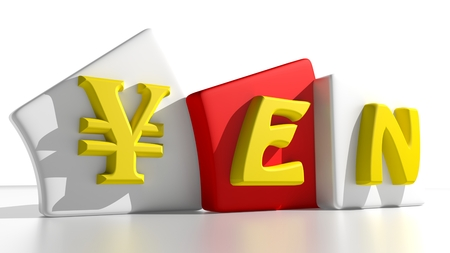 american banker: Yen - Japanese currency Stock Photo
