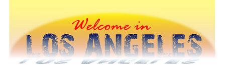 los angeles: Willkommen in Los Angeles Zeichen Illustration