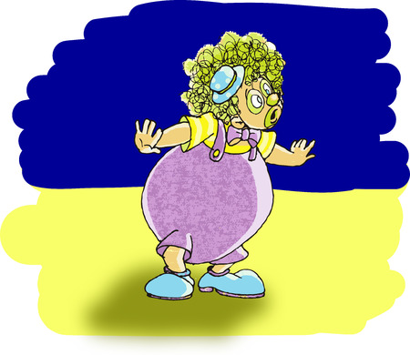 joking: The clown Illustration