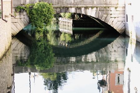 The bridge on the Livenza river